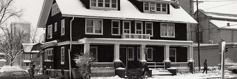 Meiklejohn House with snow
